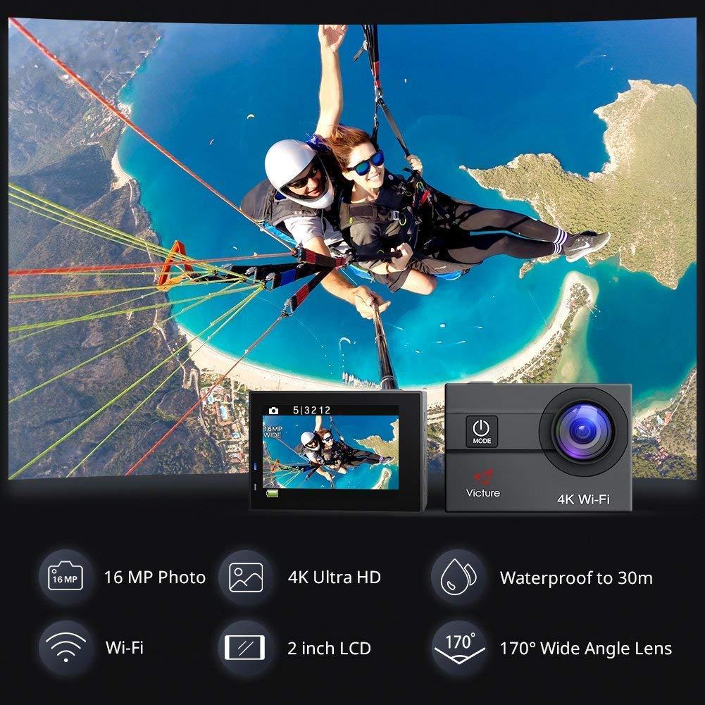 Características cámara deportiva 4k Victure AC600