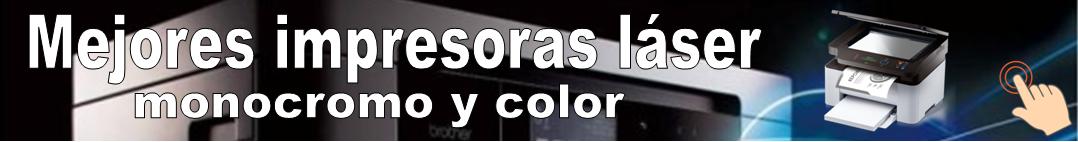 Banner Mejores impresoras láser monocromo y color
