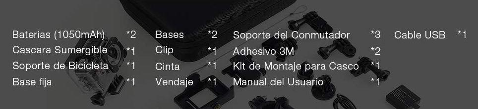 Accesorios incluidos APEMAN A77