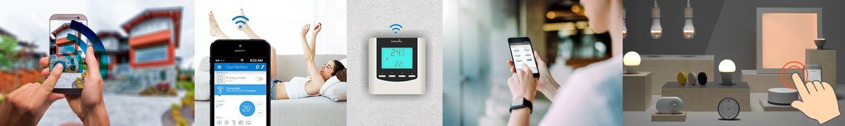 Banner climatización, seguridad e iluminación inteligente