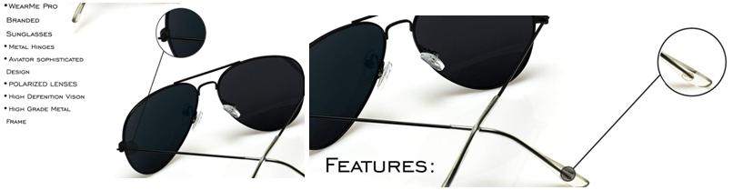WearMe Pro - Gafas de sol de estilo aviador o piloto polarizadas