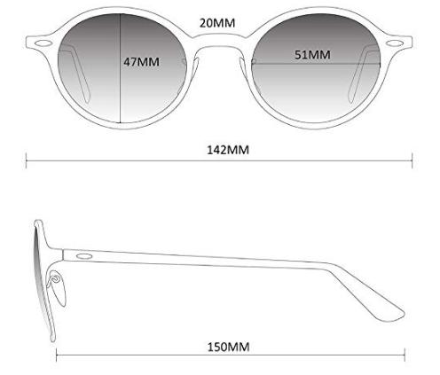 Características WearMe Pro - Gafas de sol retro