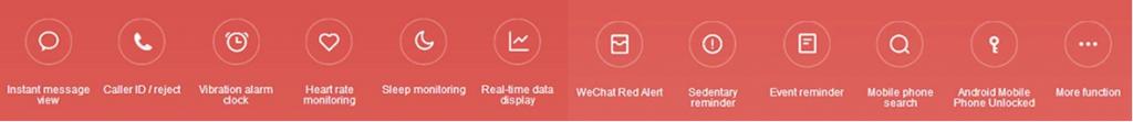 Funciones Pulsera de actividad Xiaomi Mi Band 3