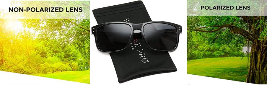 WearMe Pro - Gafas de sol prémium estilo Wayfarer clásico