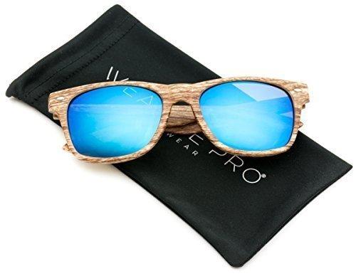 gafas de sol de pasta con lentes de color reflectantes revo estampado