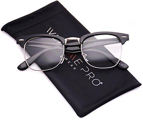 wearme pro vintage inspirado clsico medio marco horn con borde transparente 1