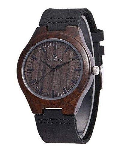 Reloj de madera de bambu hombre