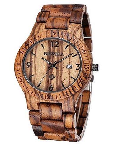 Reloj de madera de lujo