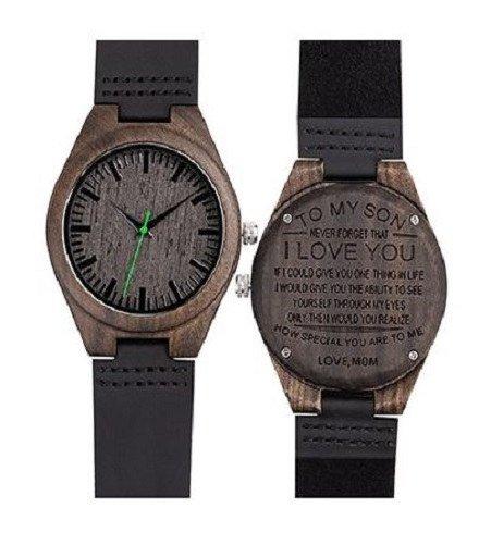 Reloj de madera mujuze
