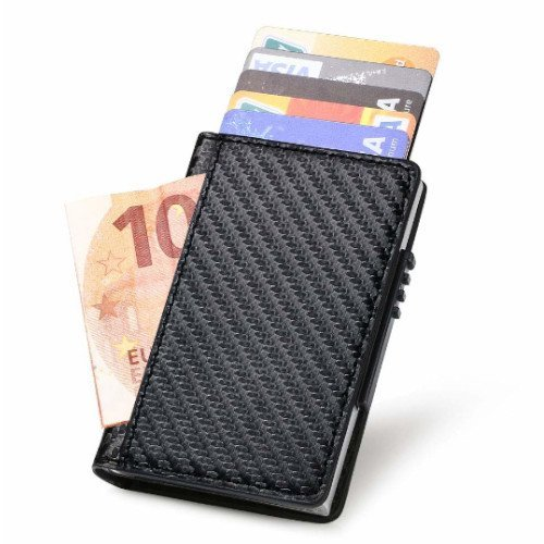 cartera slim wallet negra
