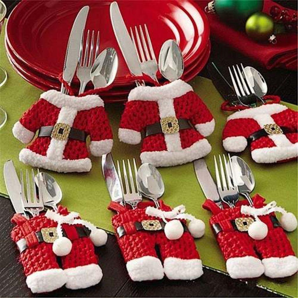 Cubre cubiertos navideños