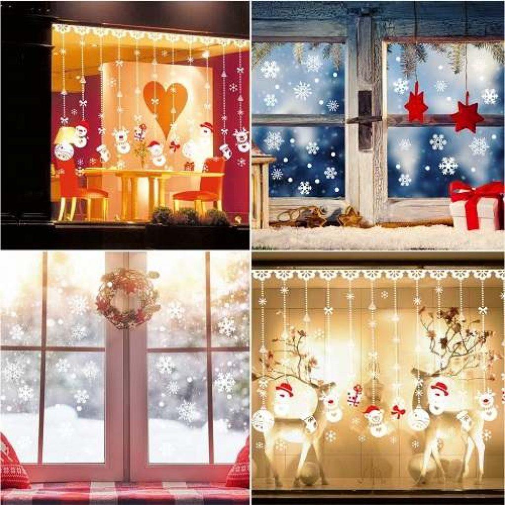 Pegatians navideñas ventanas